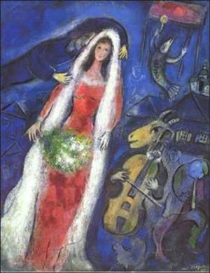 Marc Chagall. La Mariée. 1950. Gouache, pastel.