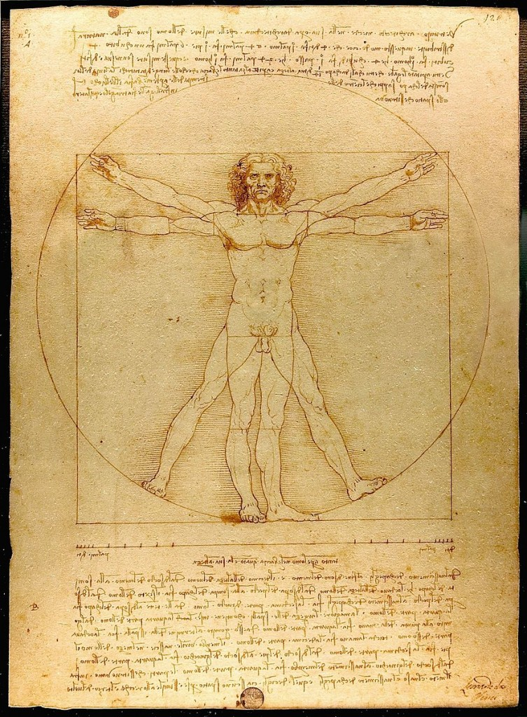 Leonardo da Vinchi. Vitruvian man.