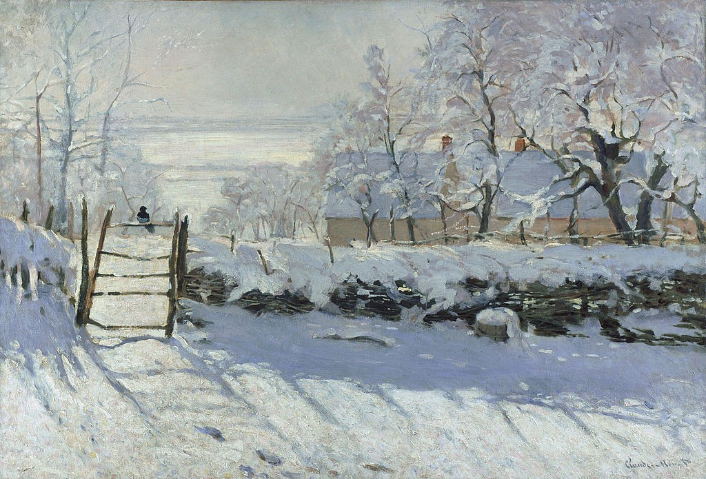 Claude Monet. The magpie. 1868-1869. Oil on canvas.
