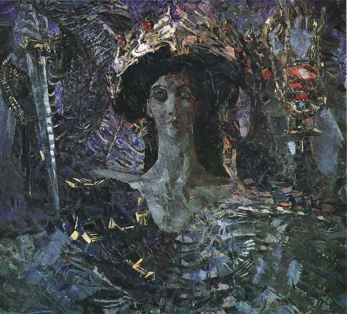 Mikhail Vrubel. Six-winged Seraph (Azrail). 1904