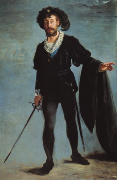 Edouard Manet. Faure as Hamlet.