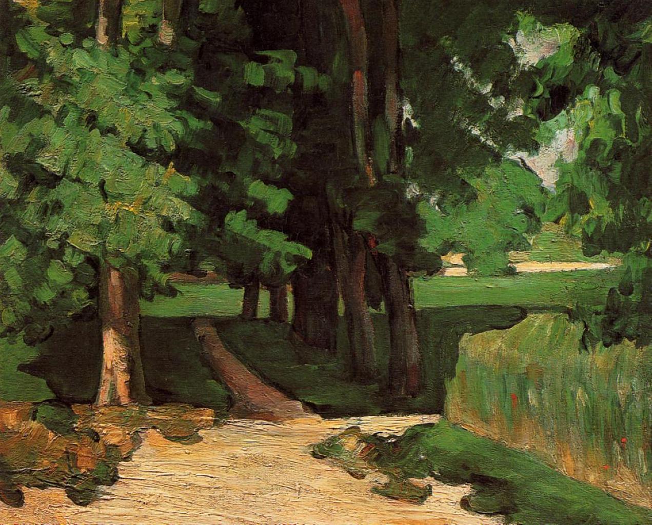 Paul Cezanne. Lane of Chestnut trees at the Jas de Bouffan. 1871