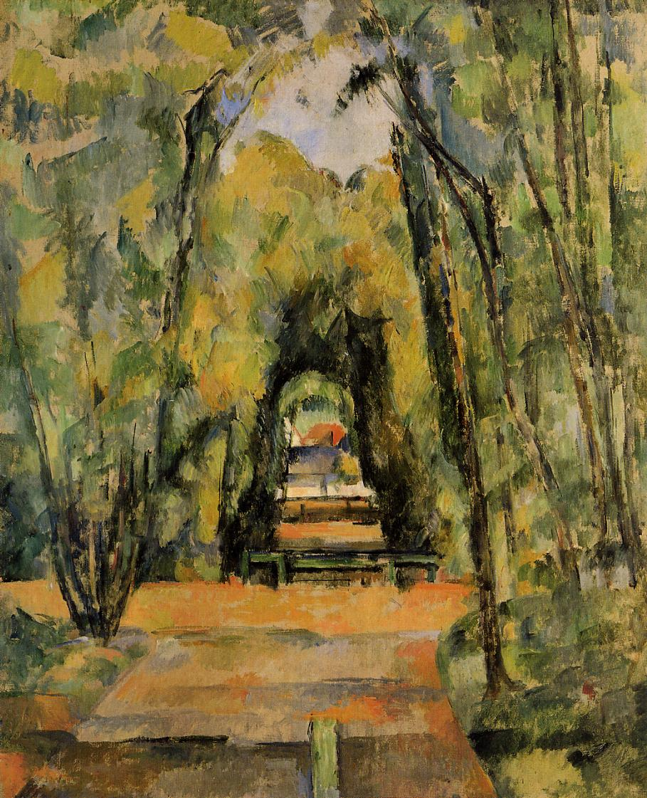 Paul Cezanne. The alley at Chantilly. 1988.