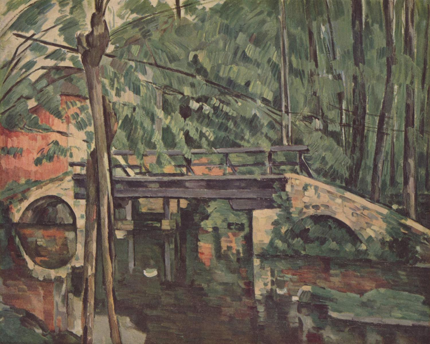 Paul Cezanne. The bridge at Maincy. 1879.