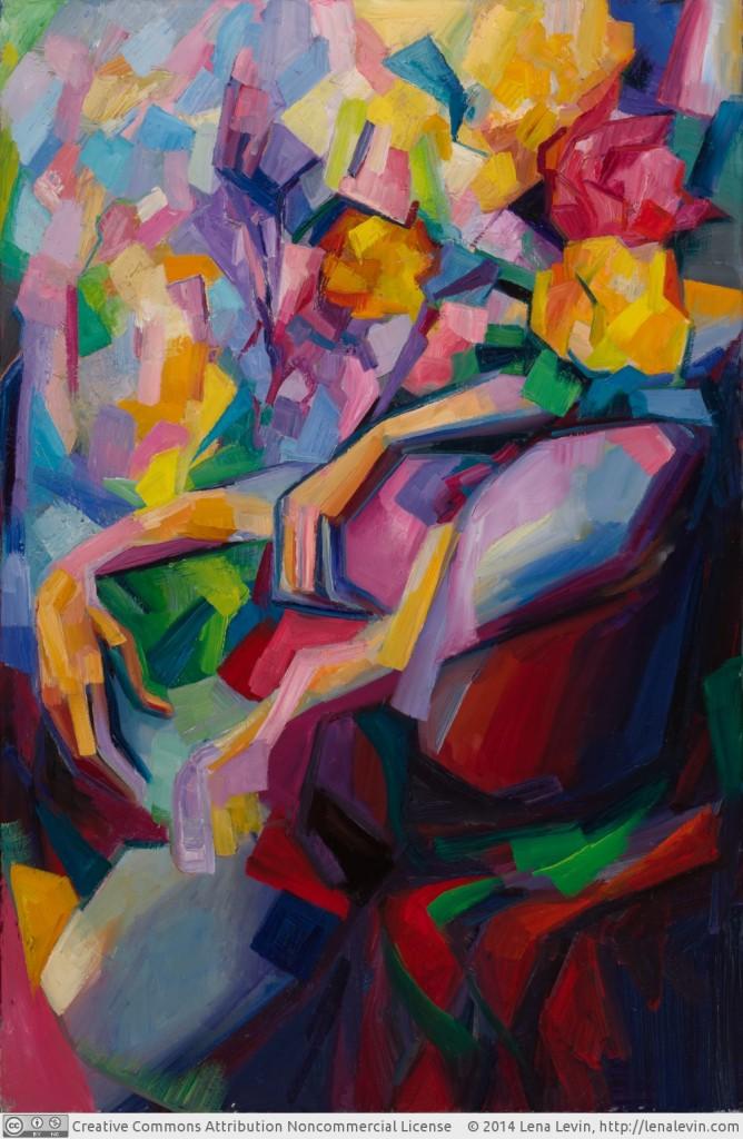 """Lena Levin. Surrender 36""""×24"""" (91.4×61cm) Oil on canvas October 2014"""