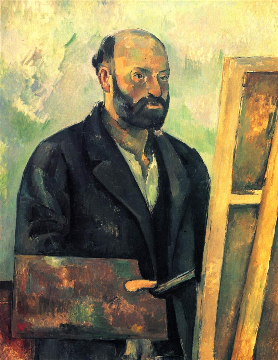 Paul Cezanne. Self-portrait with palette. c. 1890