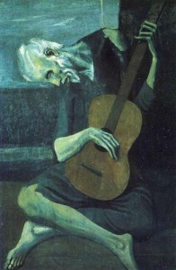 Pablo Picasso. The old blind guitarist.