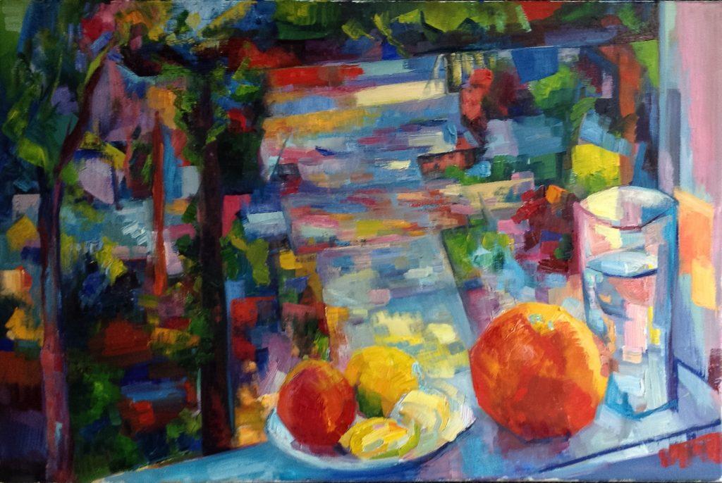 """Lena Levin. """"Window"""". 30""""x20"""". In progress."""