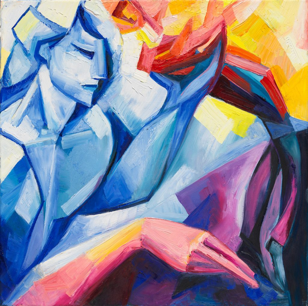 """Elena Maslova-Levin. Thou art all my art (Sonnet 78). 20""""x20""""."""