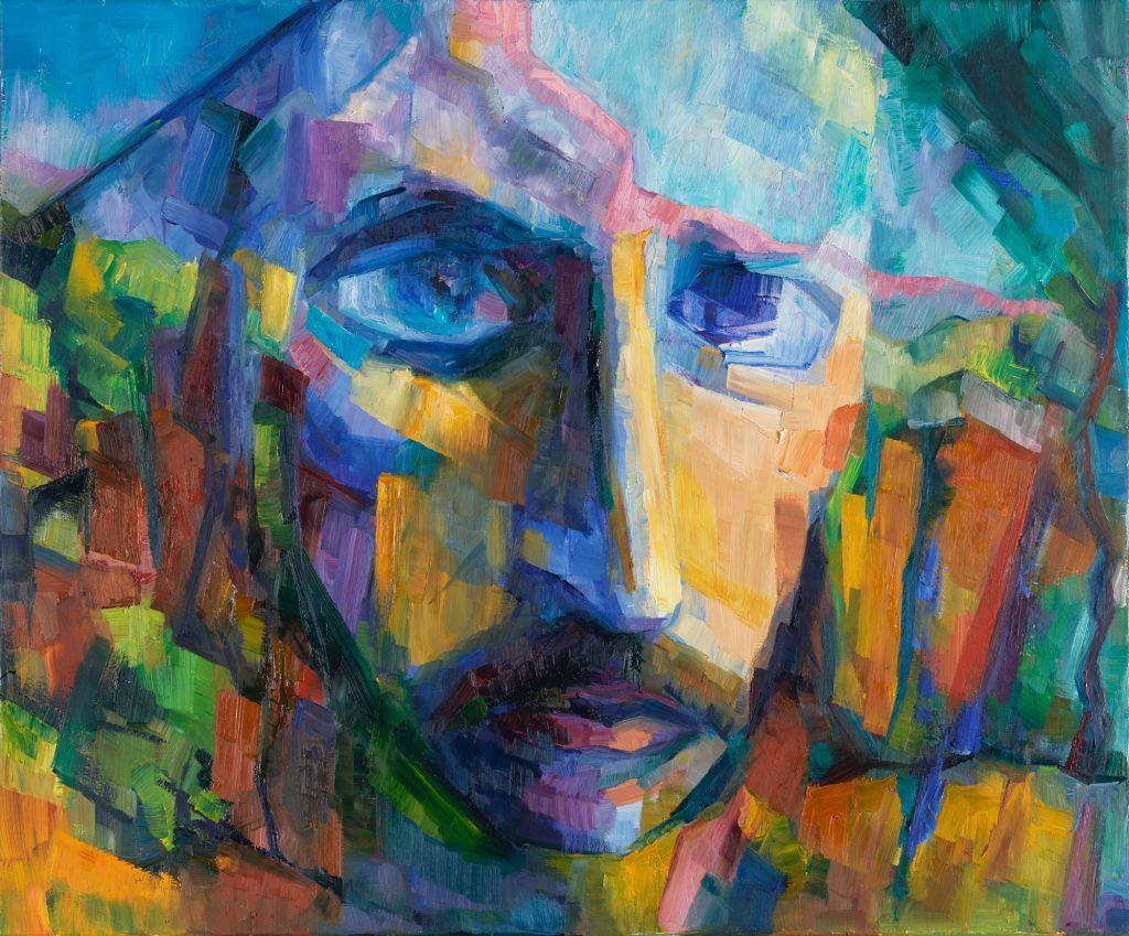"Elena Maslova-Levin. Rilke and Cezanne. 20""x24"". 2018."